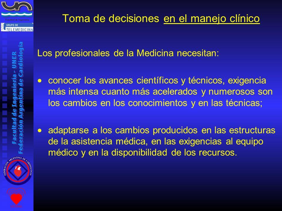 Toma de decisiones en el manejo clínico
