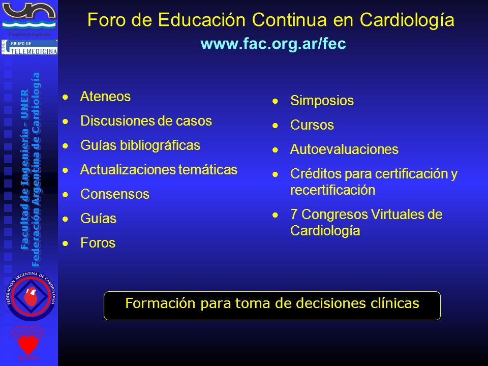 Foro de Educación Continua en Cardiología www.fac.org.ar/fec