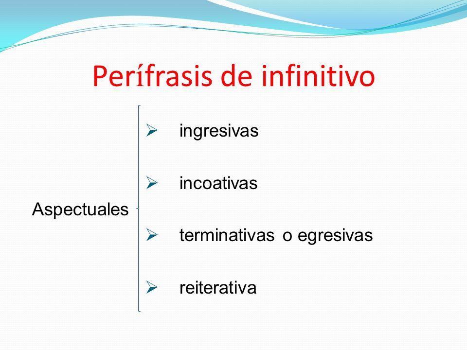 Perífrasis de infinitivo
