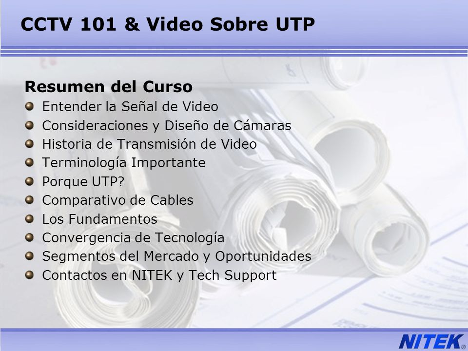 CCTV 101 & Video Sobre UTP Resumen del Curso