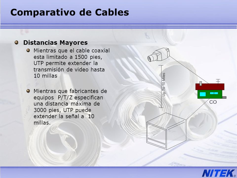 Comparativo de Cables Distancias Mayores