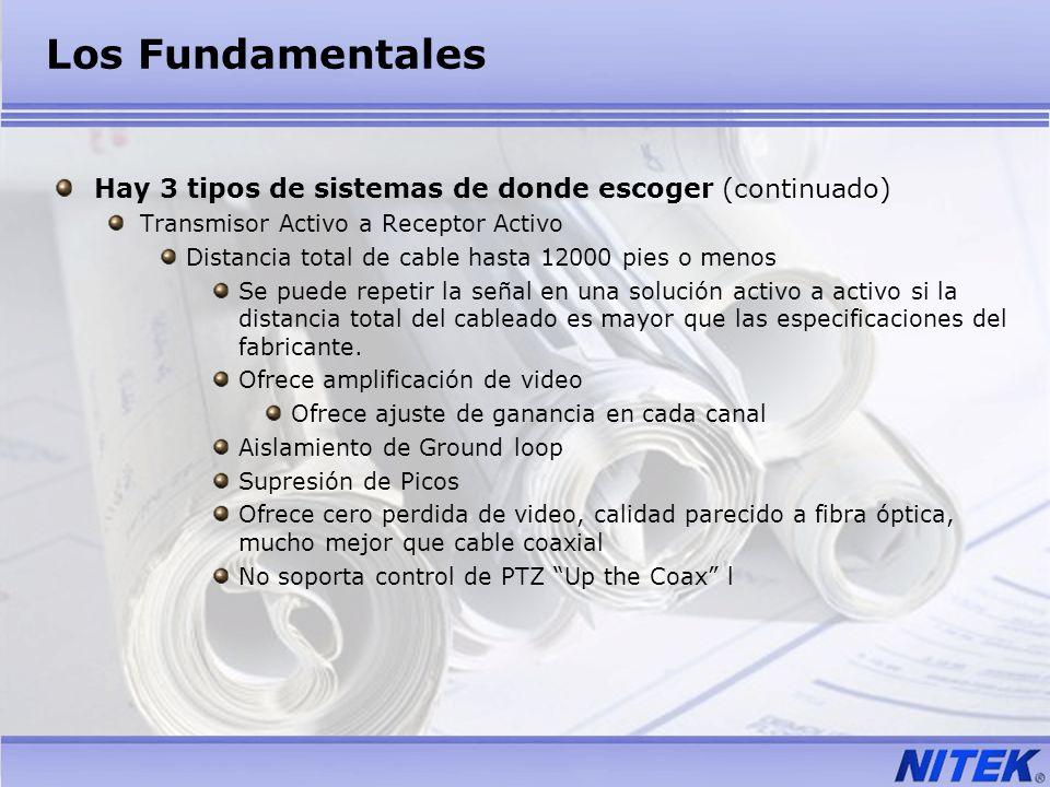Los FundamentalesHay 3 tipos de sistemas de donde escoger (continuado) Transmisor Activo a Receptor Activo.