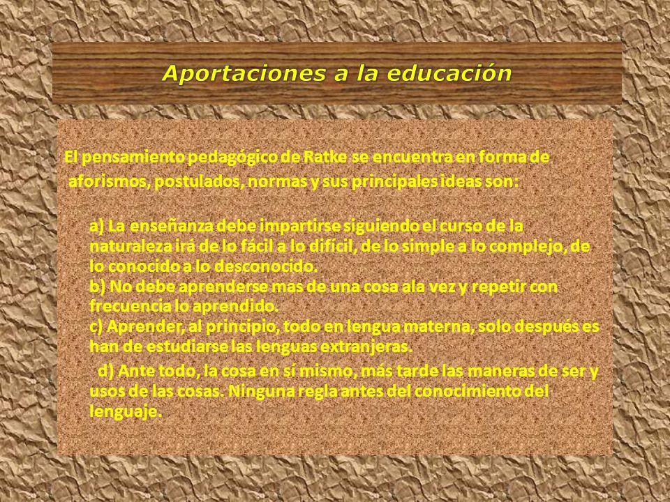 Aportaciones a la educación