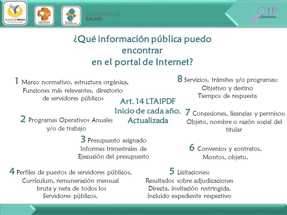 ¿Qué información pública puedo encontrar en el portal de Internet