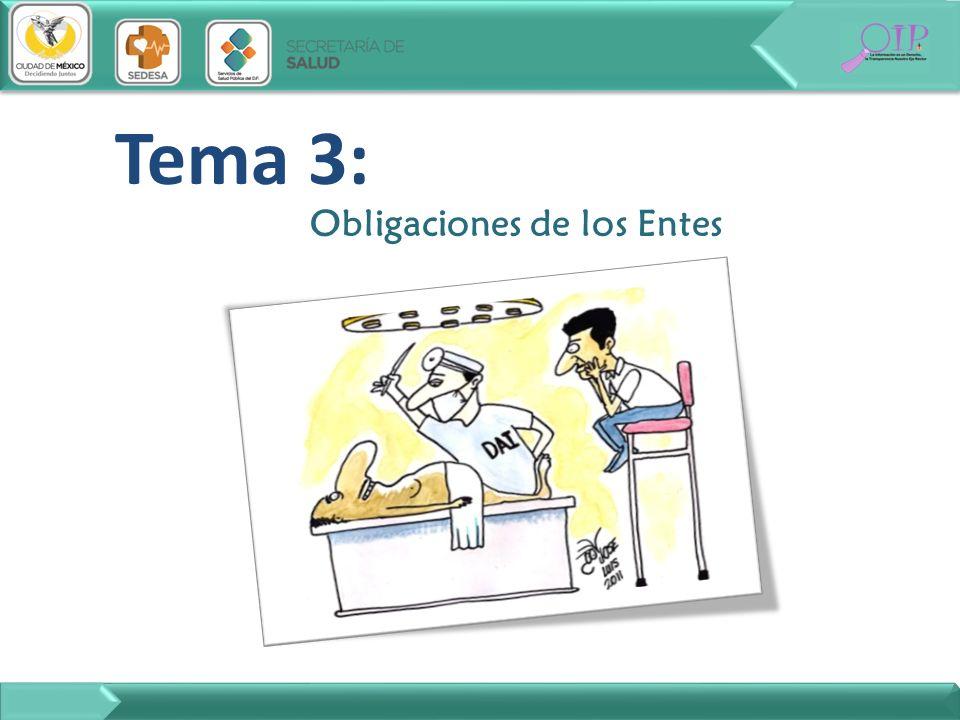 Tema 3: Obligaciones de los Entes