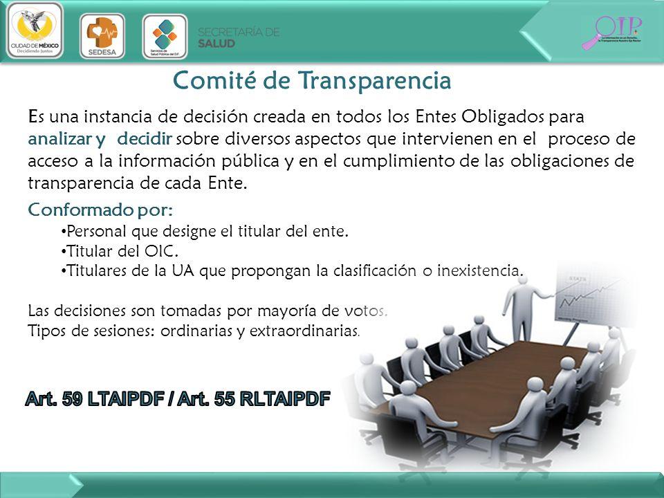 Comité de Transparencia