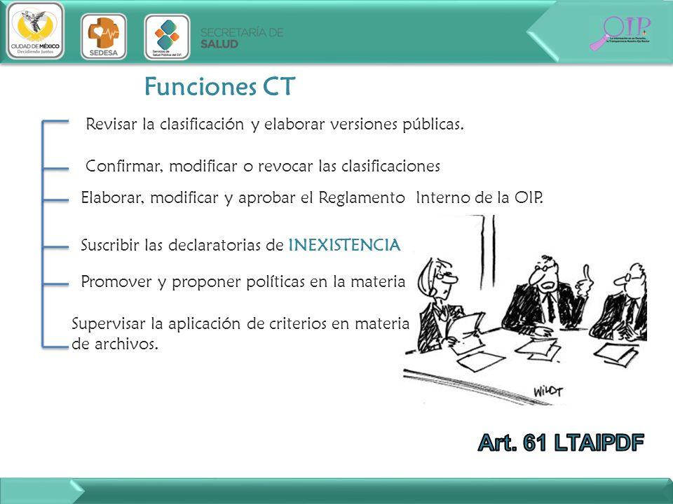 Elaborar, modificar y aprobar el Reglamento Interno de la OIP.
