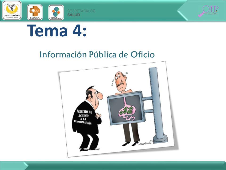 Tema 4: Información Pública de Oficio