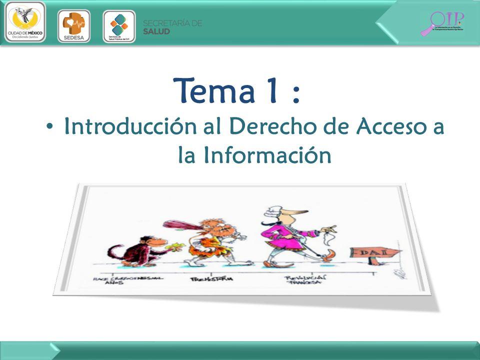 Introducción al Derecho de Acceso a la Información