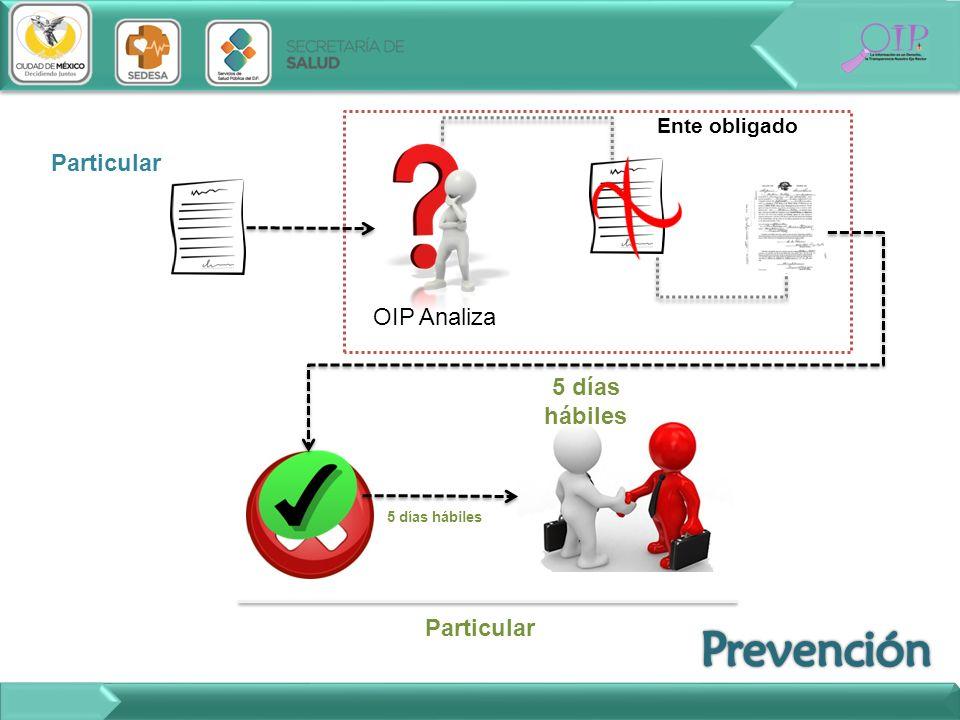Prevención Particular OIP Analiza 5 días hábiles Particular