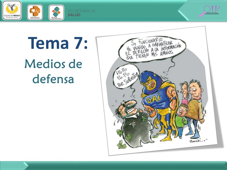 Tema 7: Medios de defensa