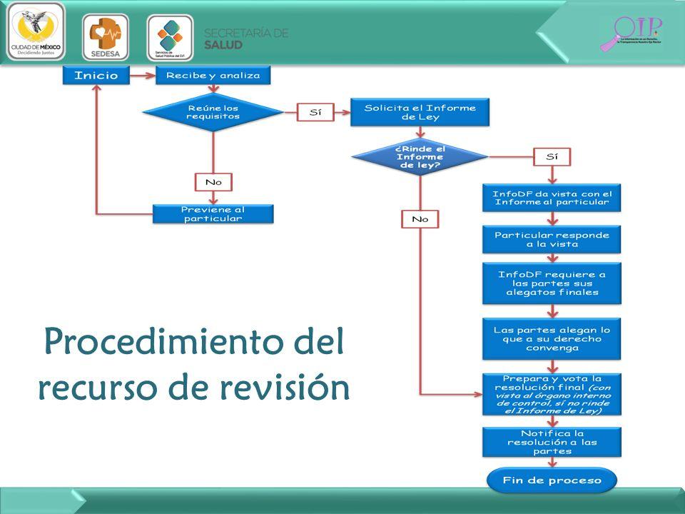 Procedimiento del recurso de revisión