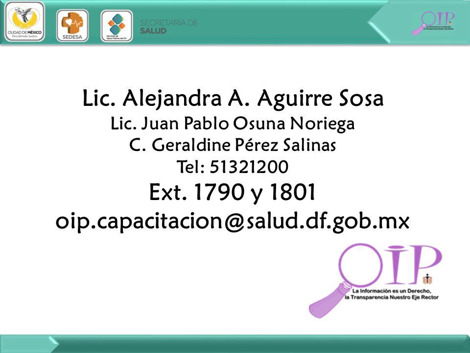 Lic. Alejandra A. Aguirre Sosa