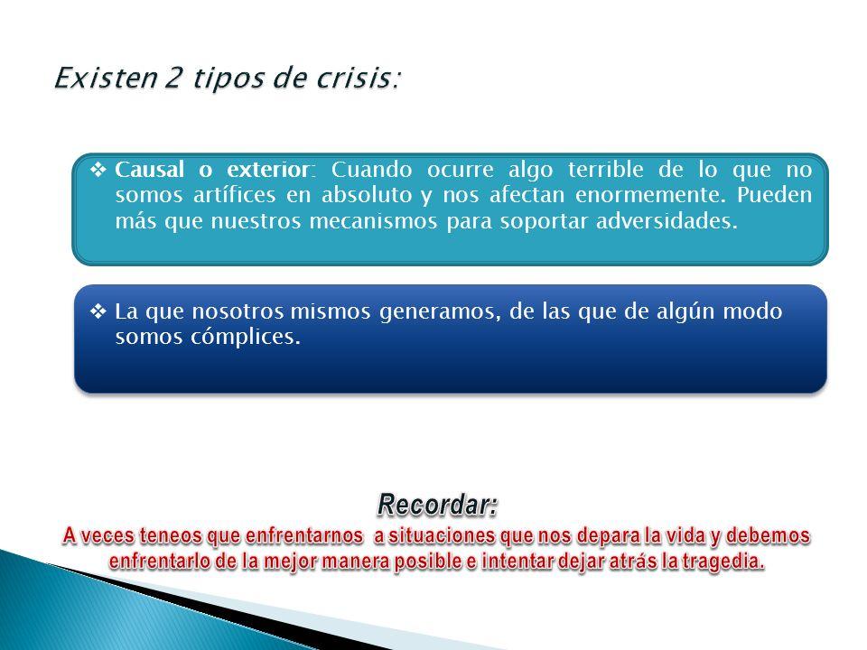 Existen 2 tipos de crisis: