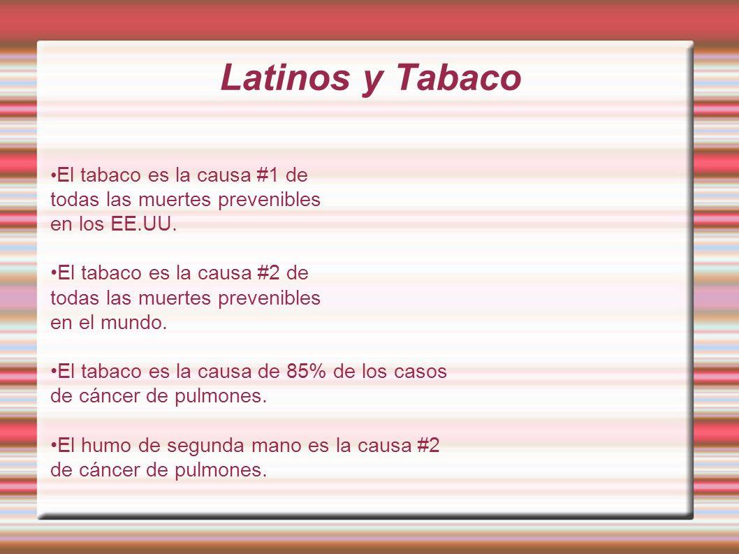 Latinos y Tabaco todas las muertes prevenibles en los EE.UU.
