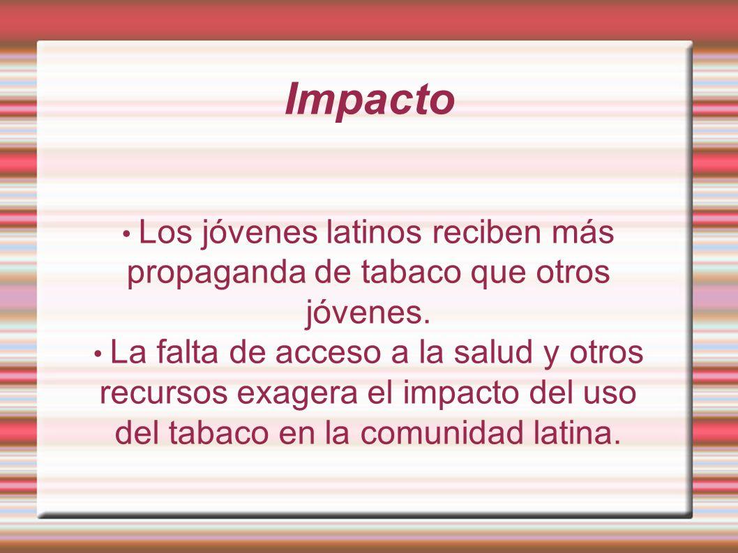 Impacto propaganda de tabaco que otros jóvenes.
