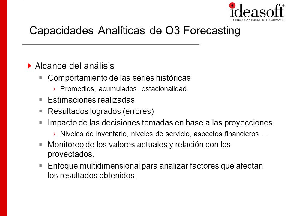 Capacidades Analíticas de O3 Forecasting