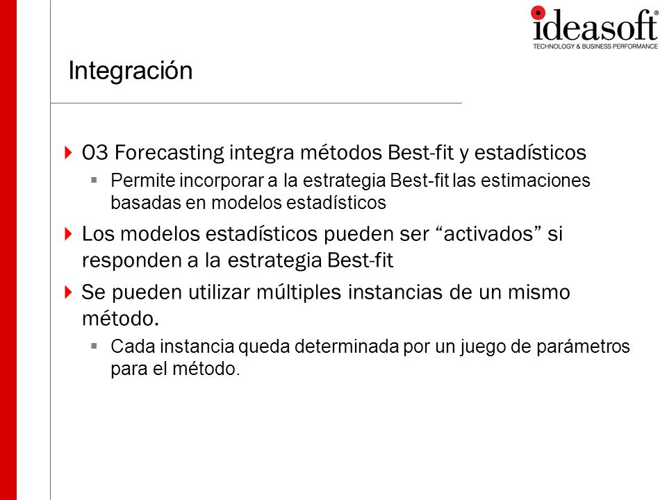 Integración O3 Forecasting integra métodos Best-fit y estadísticos