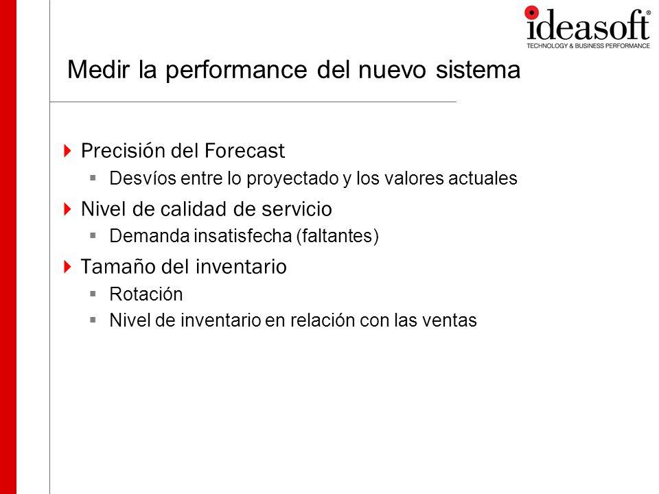 Medir la performance del nuevo sistema
