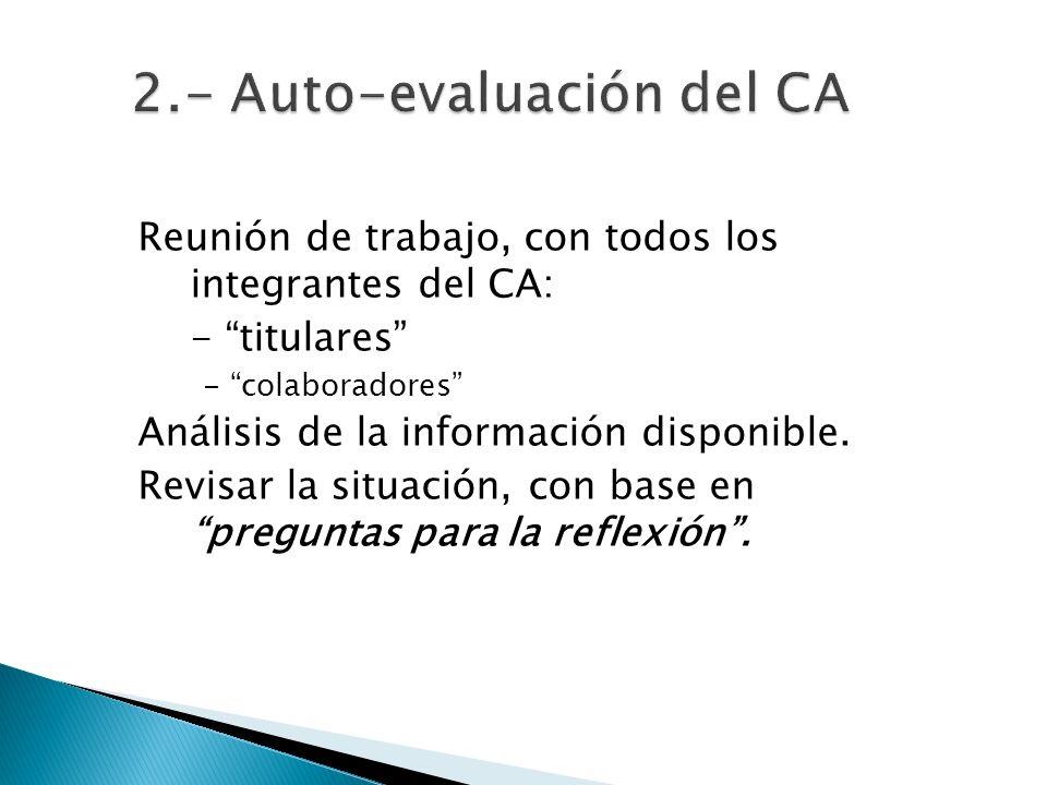 2.- Auto-evaluación del CA