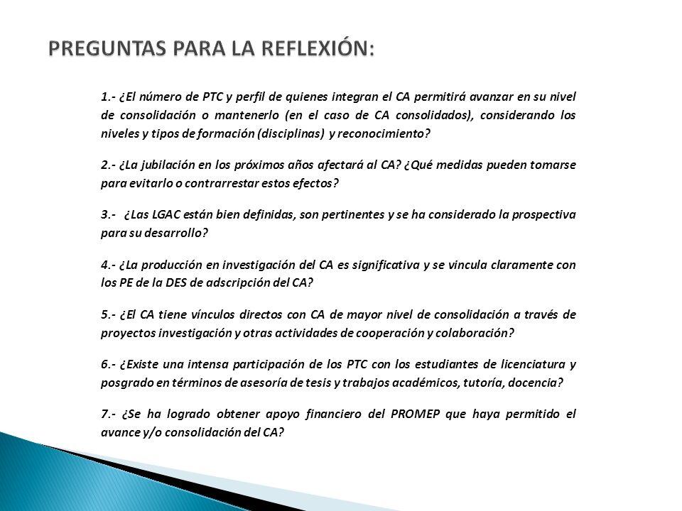 PREGUNTAS PARA LA REFLEXIÓN: