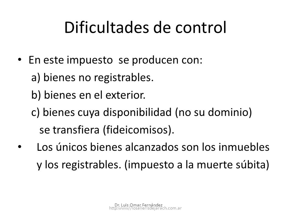 Dificultades de control