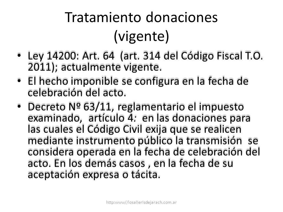 Tratamiento donaciones (vigente)