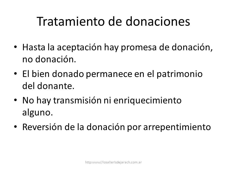 Tratamiento de donaciones