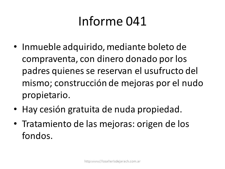 Informe 041