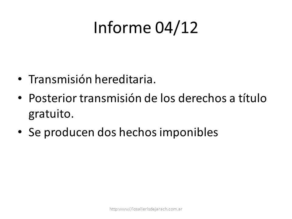 Informe 04/12 Transmisión hereditaria.