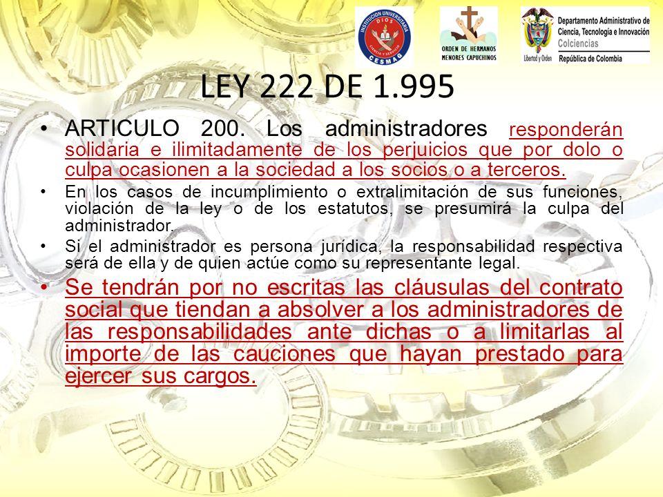 LEY 222 DE 1.995