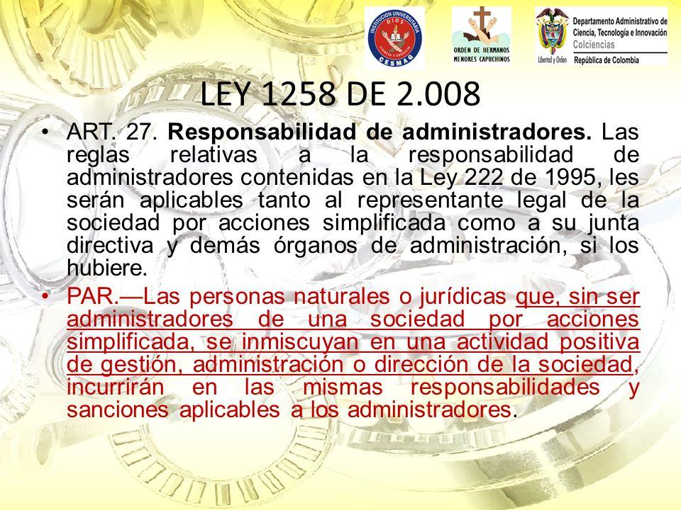 LEY 1258 DE 2.008