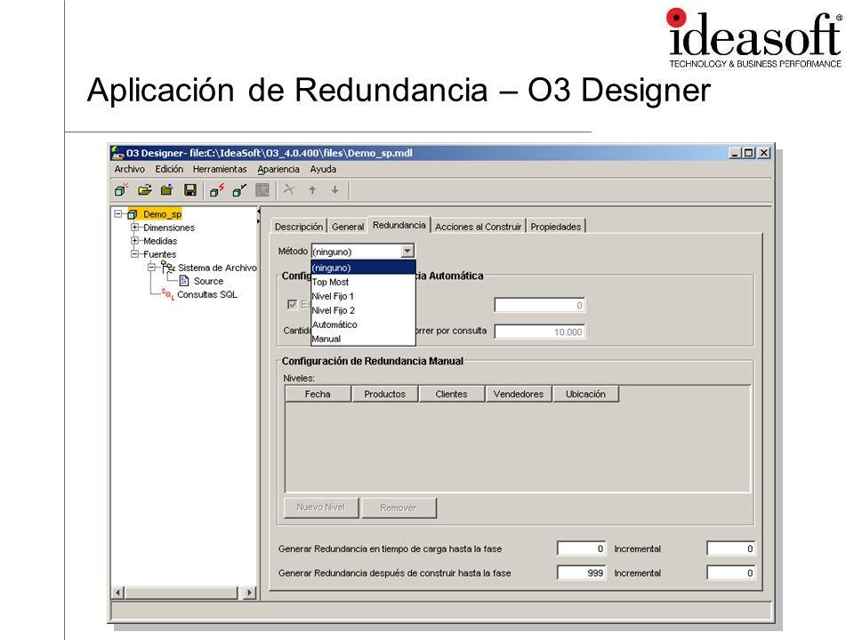 Aplicación de Redundancia – O3 Designer