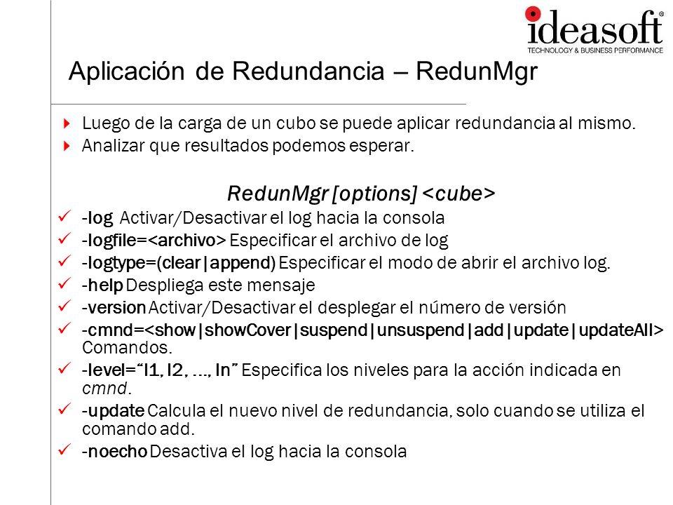 Aplicación de Redundancia – RedunMgr