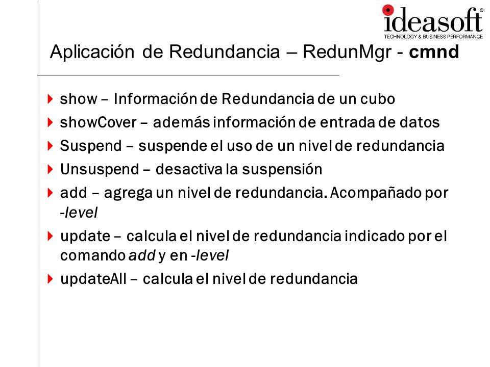 Aplicación de Redundancia – RedunMgr - cmnd