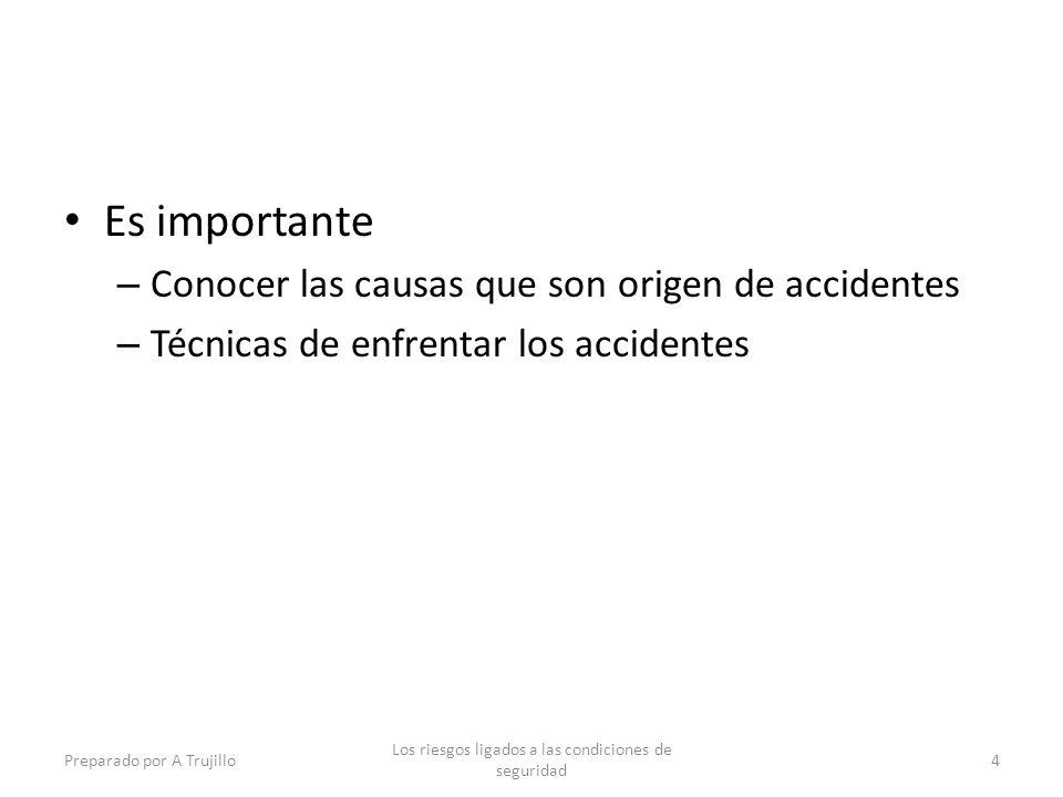 Los riesgos ligados a las condiciones de seguridad