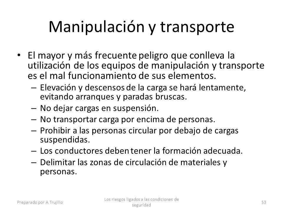 Manipulación y transporte