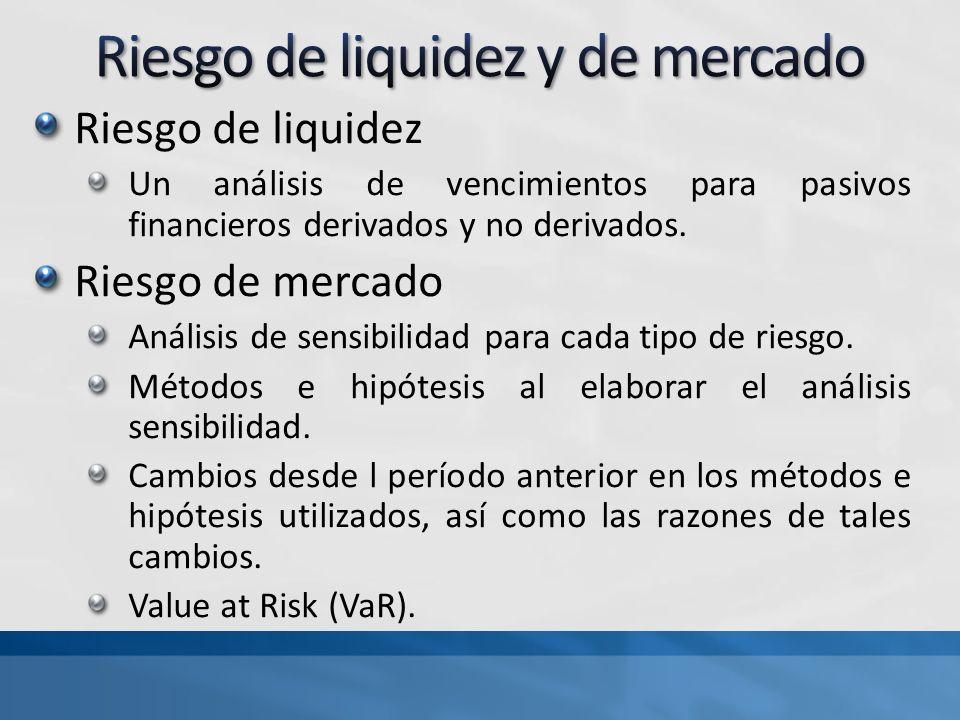 Riesgo de liquidez y de mercado