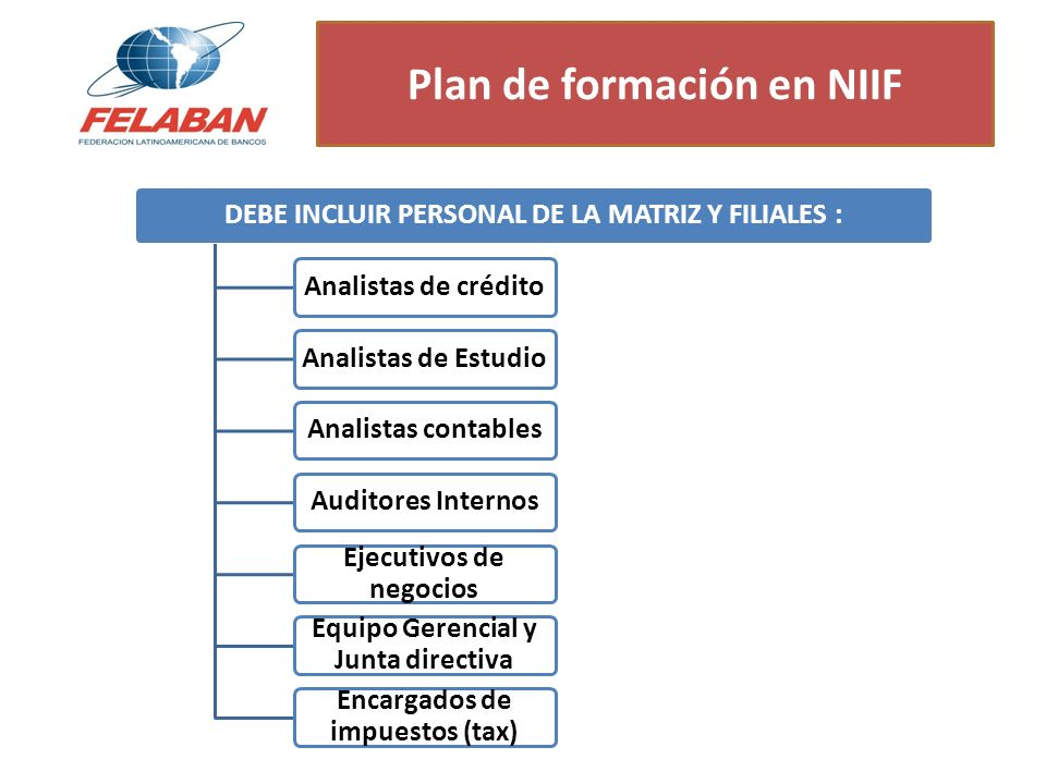 Plan de formación en NIIF