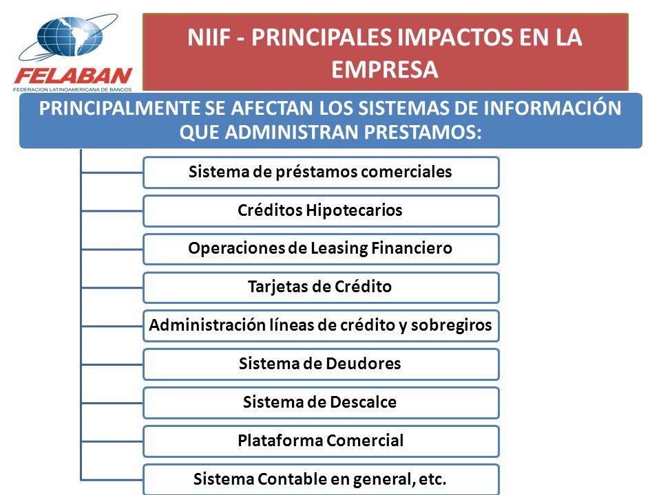 NIIF - PRINCIPALES IMPACTOS EN LA EMPRESA
