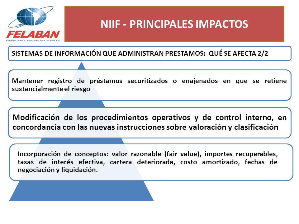 NIIF - PRINCIPALES IMPACTOS