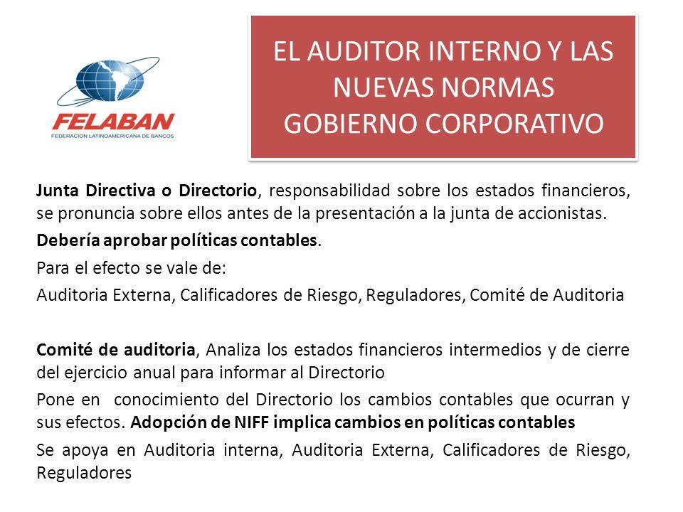 EL AUDITOR INTERNO Y LAS NUEVAS NORMAS GOBIERNO CORPORATIVO