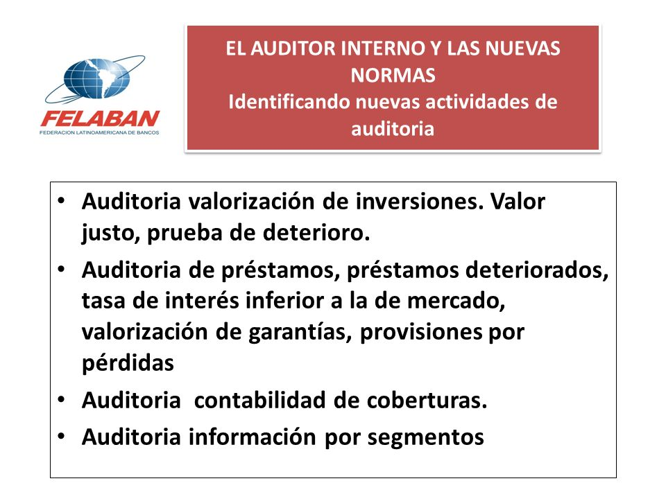 Auditoria contabilidad de coberturas.
