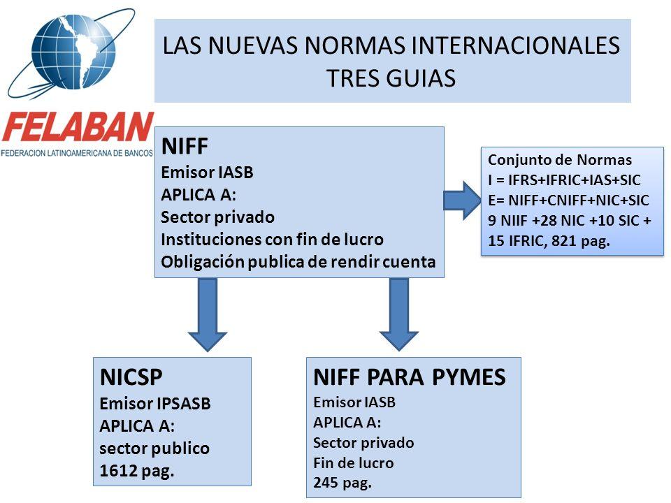 LAS NUEVAS NORMAS INTERNACIONALES TRES GUIAS