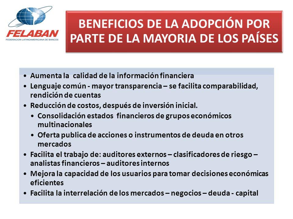 BENEFICIOS DE LA ADOPCIÓN POR PARTE DE LA MAYORIA DE LOS PAÍSES