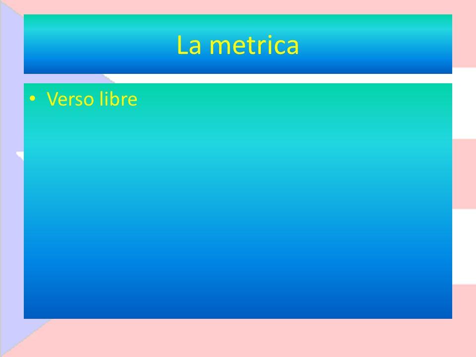 La metrica Verso libre