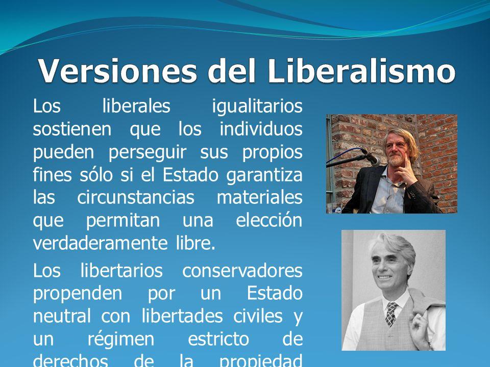 Versiones del Liberalismo