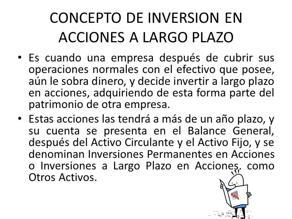CONCEPTO DE INVERSION EN ACCIONES A LARGO PLAZO