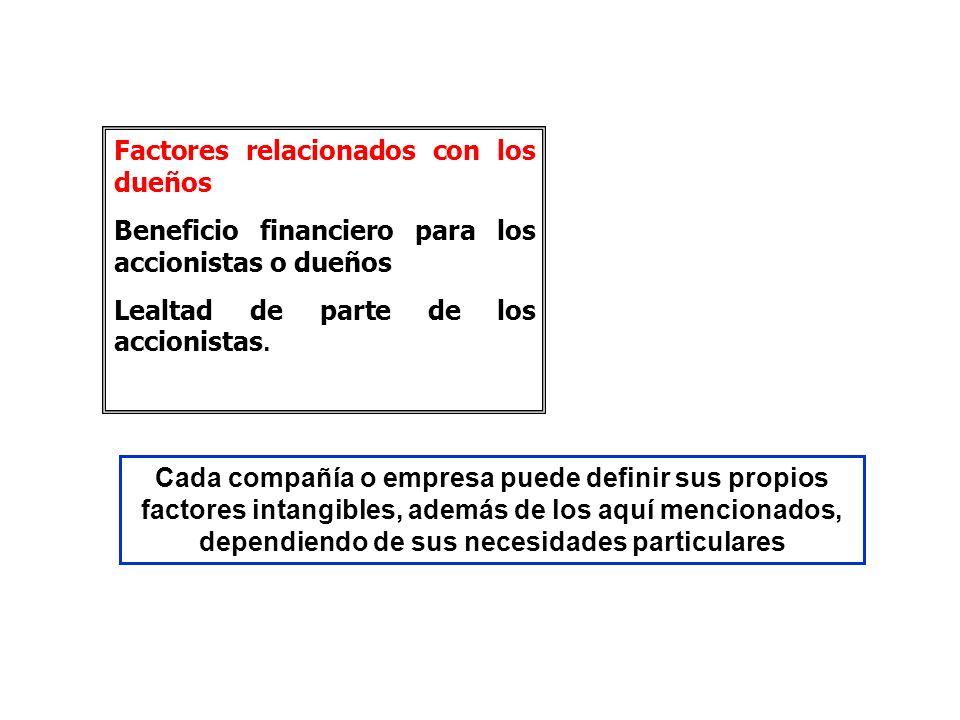 Factores relacionados con los dueños