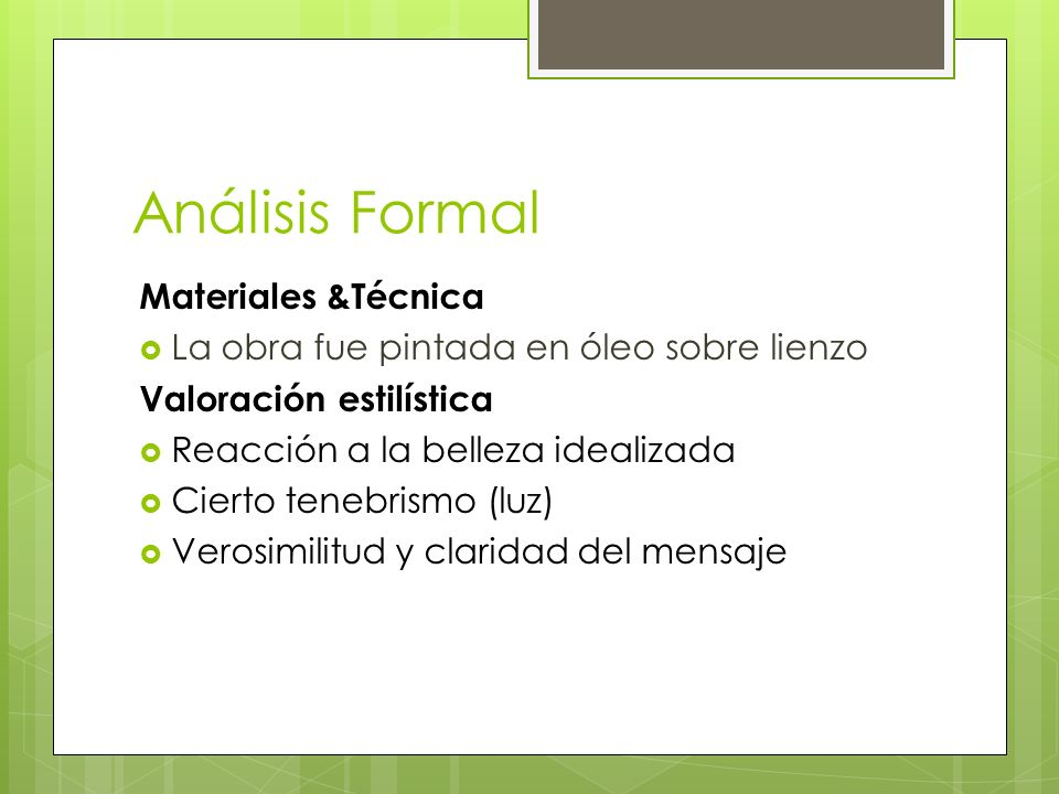 Análisis Formal Materiales &Técnica